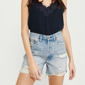 """Abercrombie & Fitch 5"""" inseam destroyed jean short"""